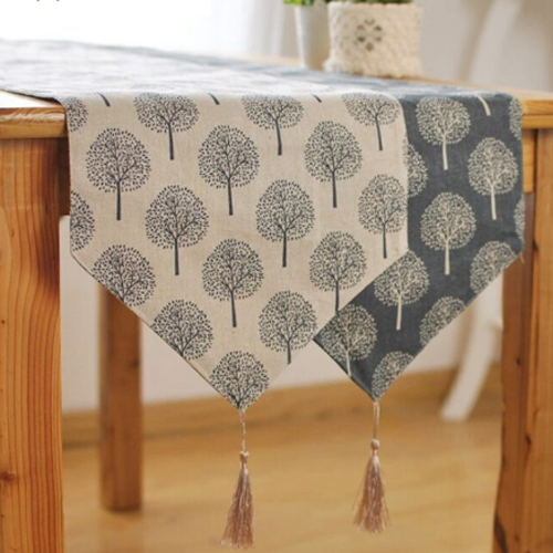 Table Runners, Navy & Cream
