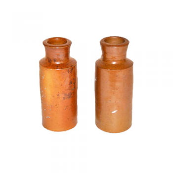 Antique Stone Bottles (Set of 2)