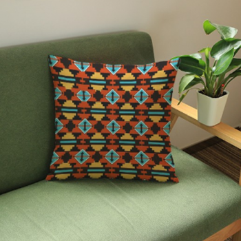 Aztec Design Cushion Cover