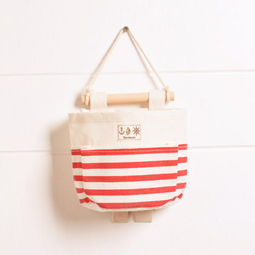 Canvas Storage Bags, Red Striped