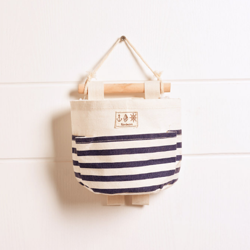 Canvas Storage Bags_Navy Striped