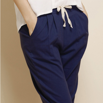 Classic Cotton Pants, Navy