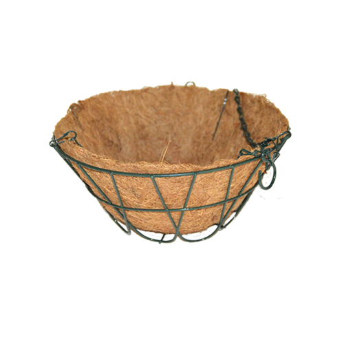 Green Metal Hanging Basket With Liner
