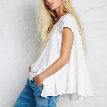 Swing T-Shirt, Cut Out Back, White