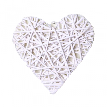 Large White Heart Decoration
