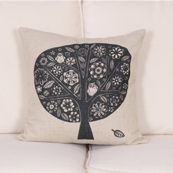 Navy Tree Print Cushion Cover