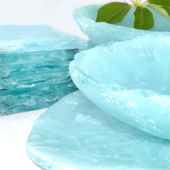Blu Ice Coasters, Set of 2, 9cm