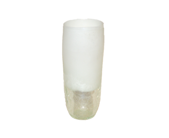 Vase, white frosted glass