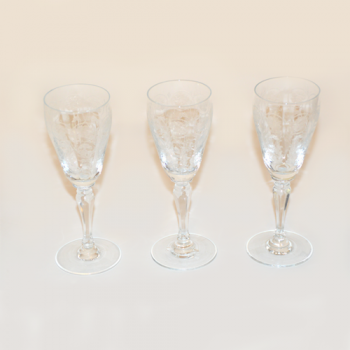Vintage White Wine Glasses (Set of 3)