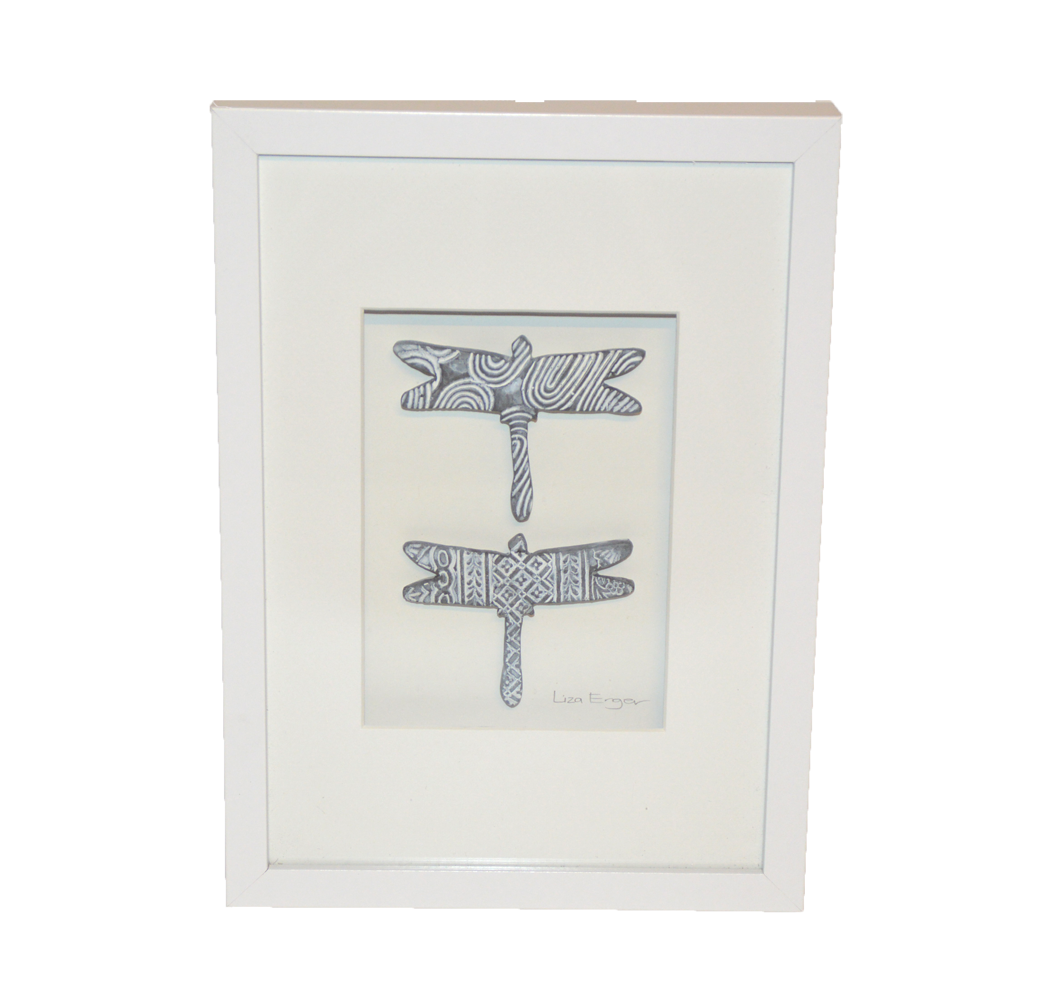 Wall Art, box frame with dragonflies