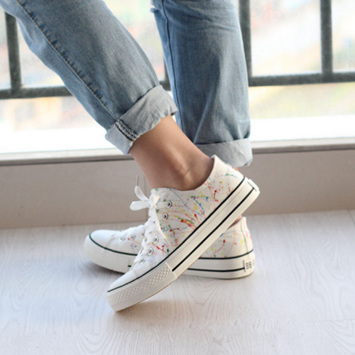 White Canvas Sand Shoes Casual Style Collections New Living