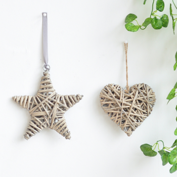 Small Wicker Star Decoration