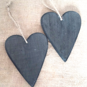 Black Wooden Heart Decoration