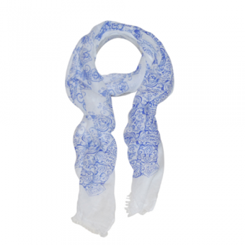 Bright Blue & White Scarf