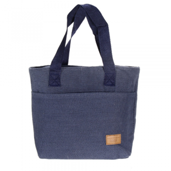 Canvas Thermal Lunch Bags, Navy