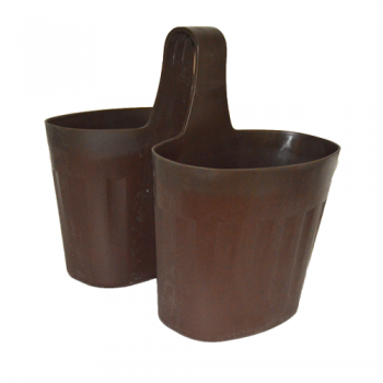 Double Saddle Planter, Brown