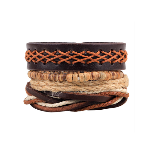Leather Multi-Layer Bracelet Style 4