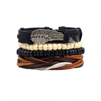 Leather Multi-Layer Bracelet Style 5