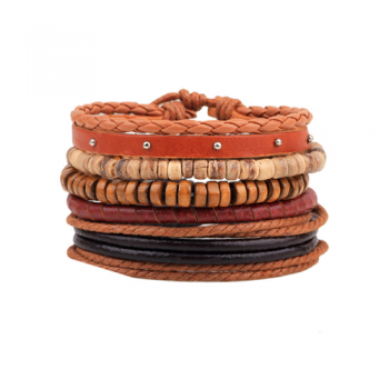 Leather Multi-Layer Bracelet Style 6