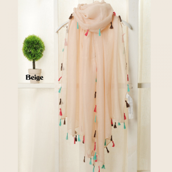 Light Pink Voile Summer Scarf