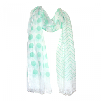 Mint Green Summer Scarf