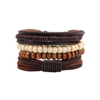 Leather Multi-Layer Bracelet Style 1