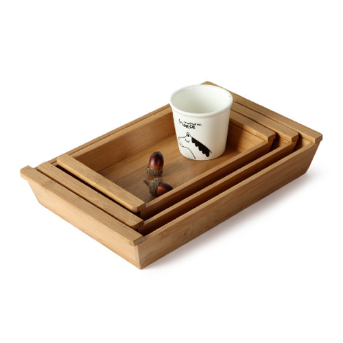 Nest of Wooden Serving Trays