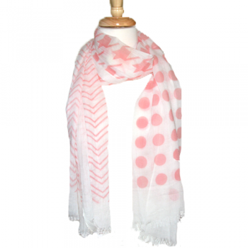 Pink & White Summer Scarf