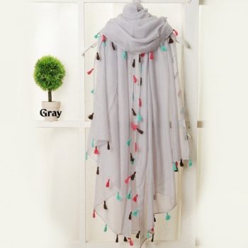 Silver Voile Summer Scarf