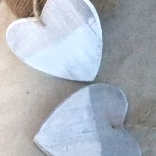 White Wooden Heart Decoration