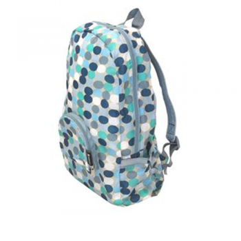 Eco-friendly backpack, Blue Spots