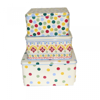 Polka Dot Storage Tins, Set of 3