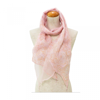 Silk Scarf, Pink Paisley