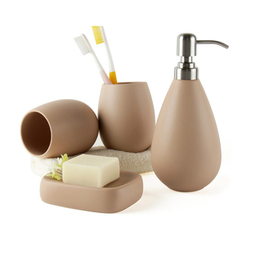 Bathroom Accessories Set, Stone
