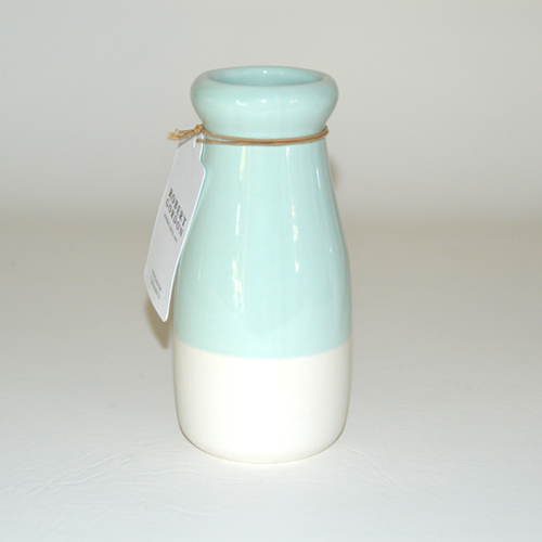 Ceramic Milk Bottle Jug, Duck Egg Blue