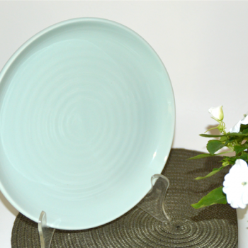 Ceramic Serving Platter, Duck Egg Blue