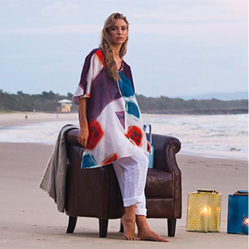 Color Splash on White Kaftan