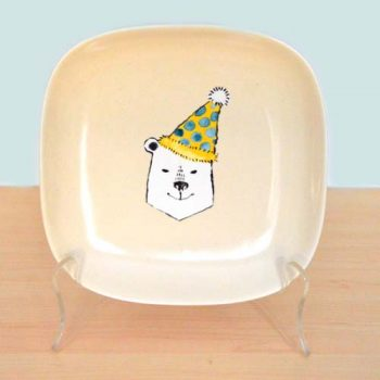 Party Polar Bear Childs Plate