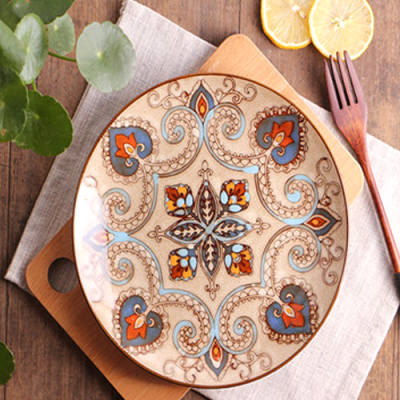 Moroccan Style Decorative Plates_Beige-Blue