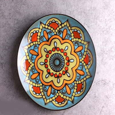 Moroccan Style Decorative Plates_Blue-Orange