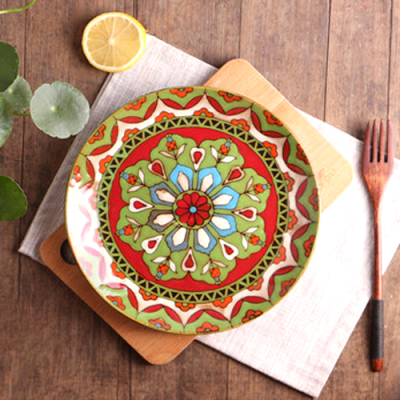 Moroccan Style Decorative Plates_Orange-Green