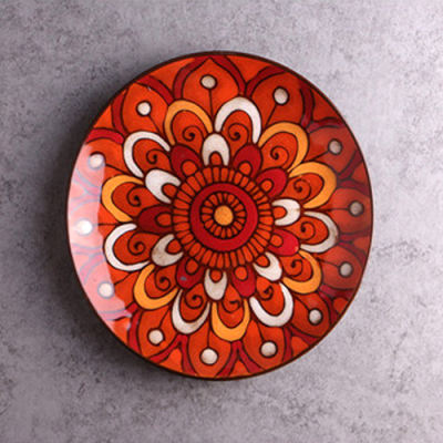 Moroccan Style Decorative Plates_Red-Orange