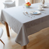 Navy Striped Tablecloth