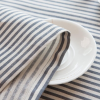 navy striped linen placements