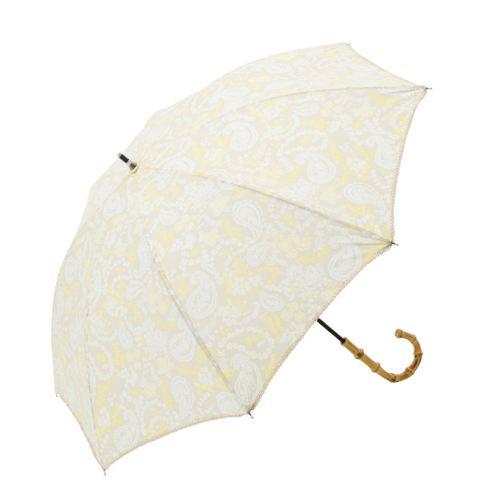 paisley umbrella cream and white