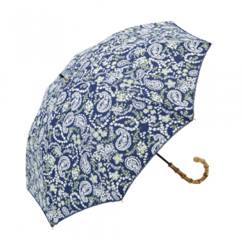 paisley umbrella navy and white