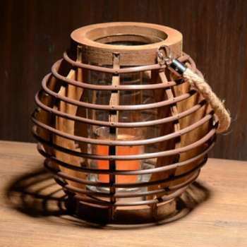 Rustic Wicker Lantern
