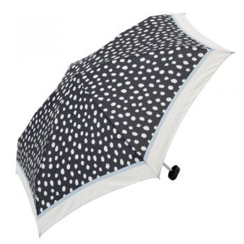 spotty umbrella white on black