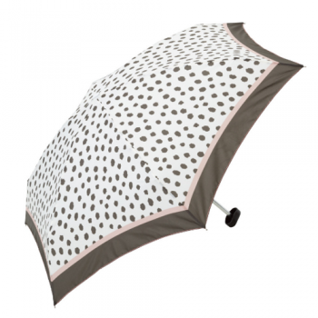 spotty umbrella brown on white