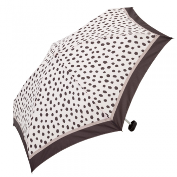 spotty umbrella black on white